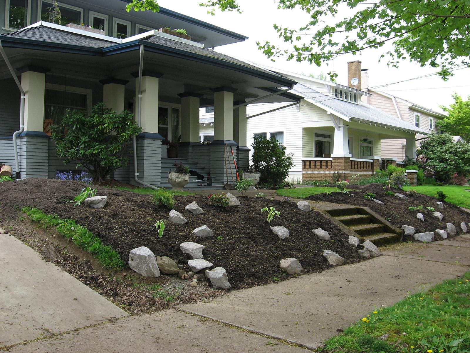 slope renovation - during